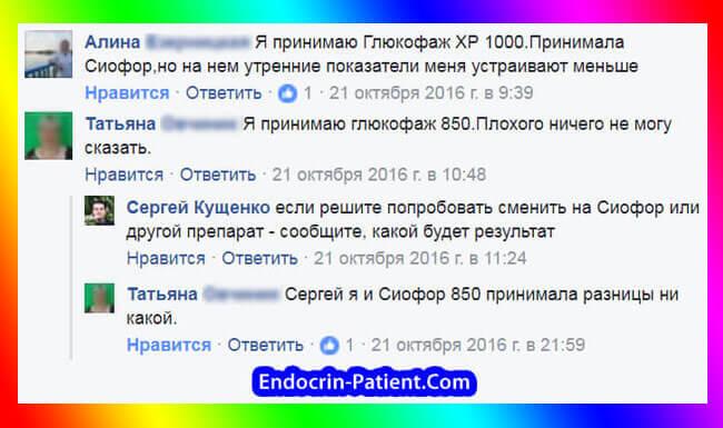 Сиофор и Глюкофаж: отзывы пациентов