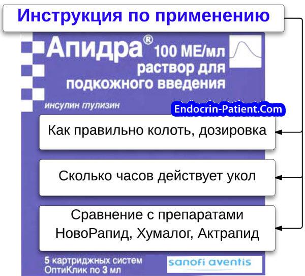 Апидра: инструкция по применению