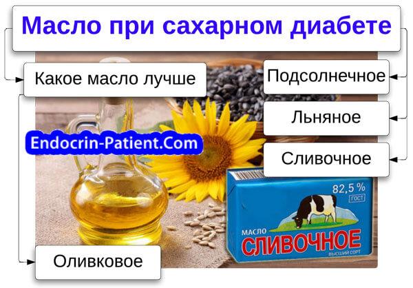 Масло при сахарном диабете