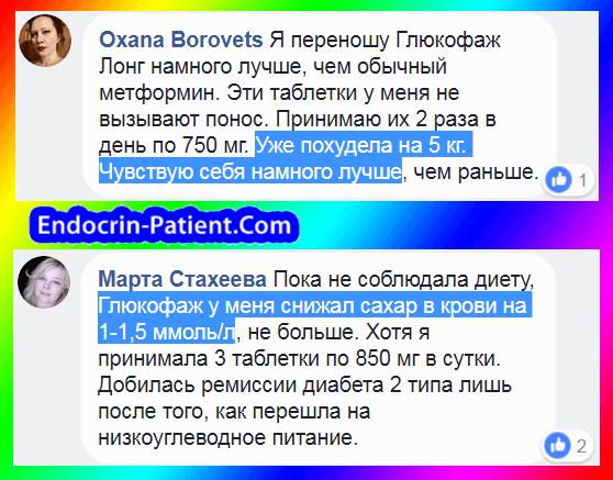 Глюкофаж: отзывы пациентов