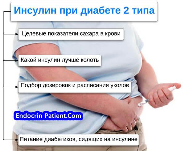 Инсулин при диабете 2 типа