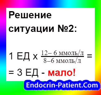 Расчет дозы инсулина: пример 2-3